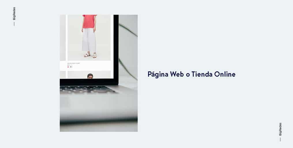 Página Web o Tienda Online