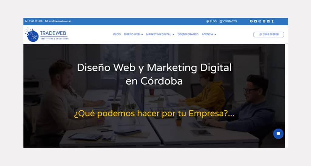 Precio de Diseño de Páginas web en Argentina - TradeWeb