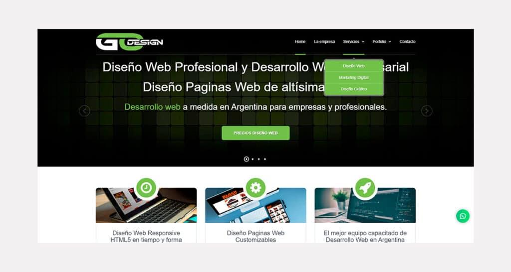 Precio de Diseño de Páginas web en Argentina