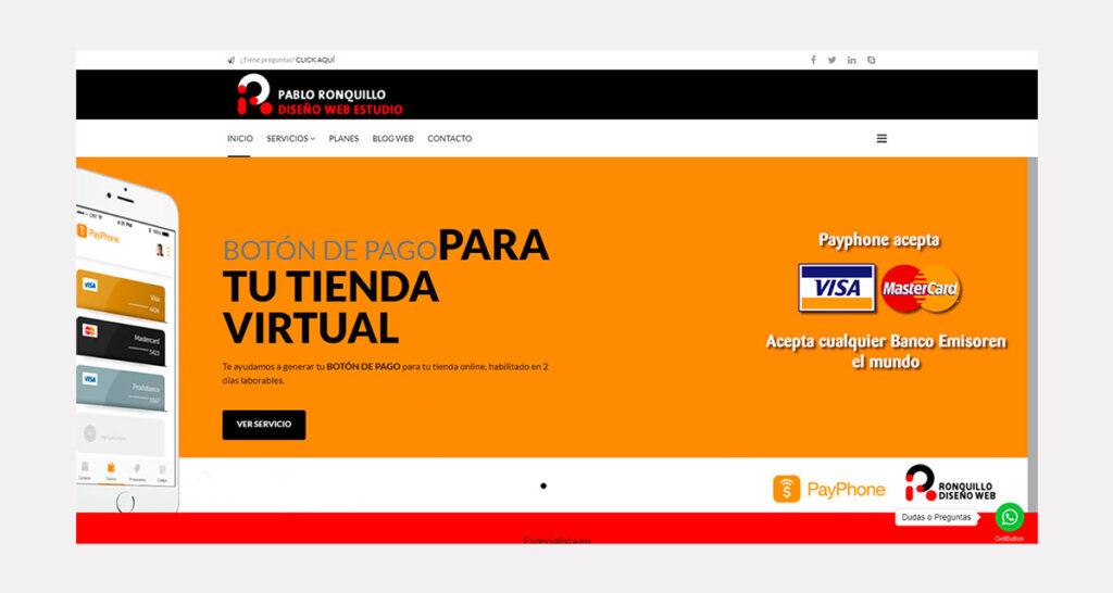 Precio de diseño de páginas web en Ecuador