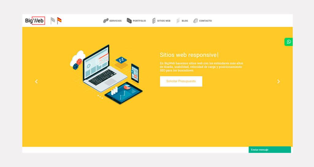 el precio de diseño de páginas web en Uruguay