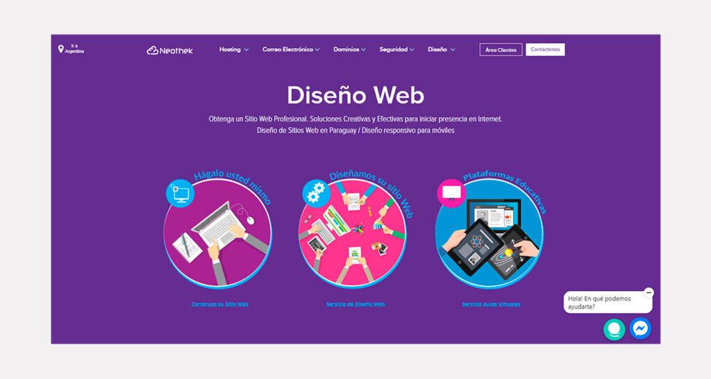 precio de diseño de páginas web en Paraguay