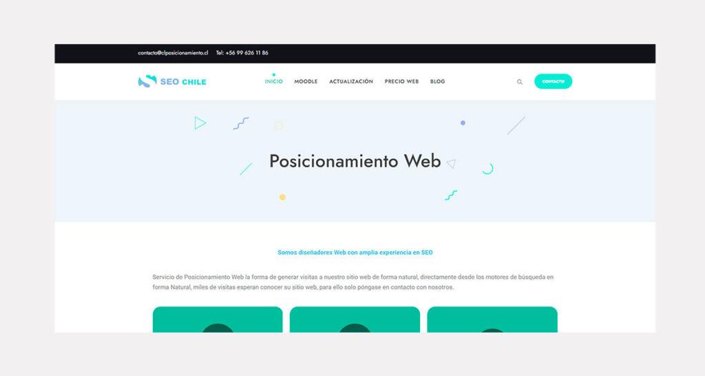 recio de diseño de páginas web en Chile